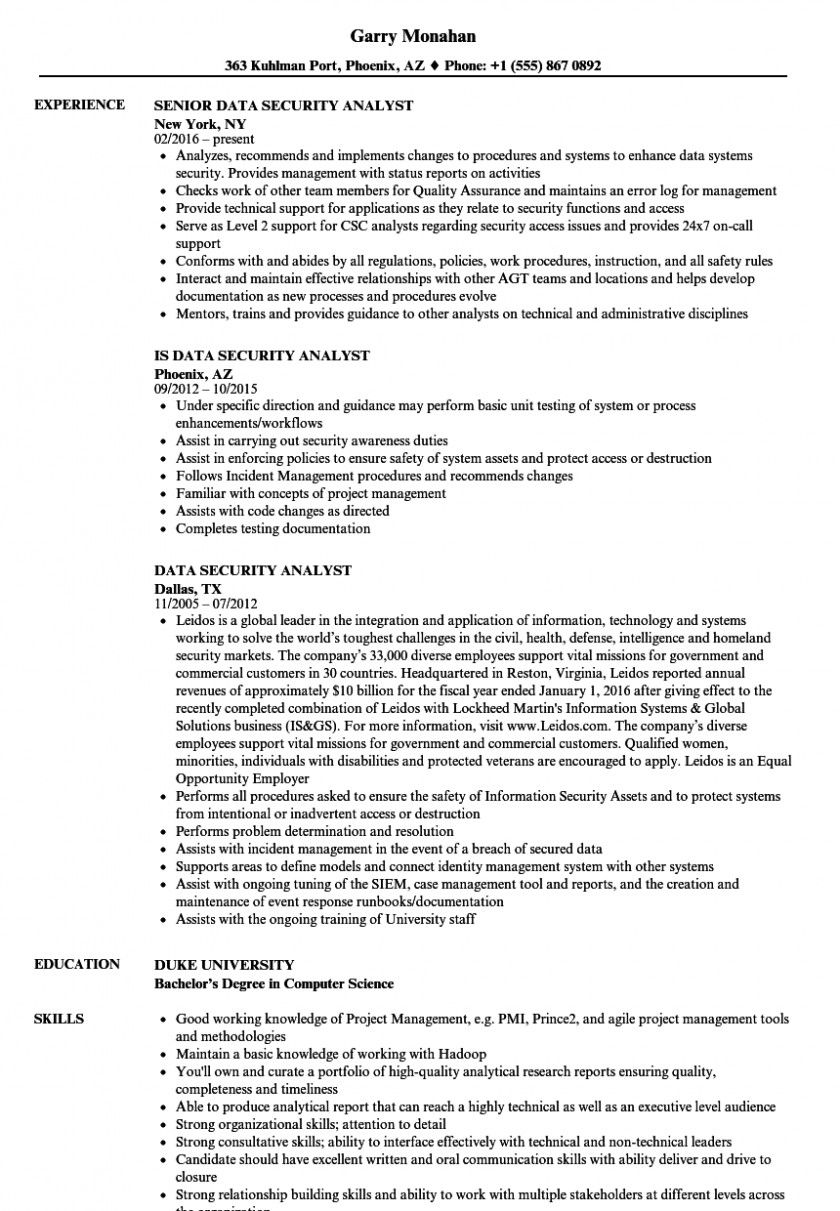 apply cyber security analyst jobs resume sample pci dss objective statement for medical Resume Cyber Security Resume Sample