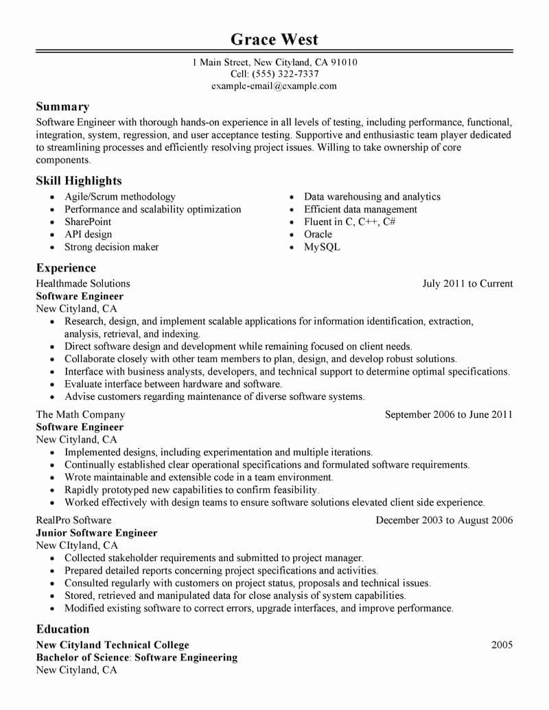 apply software engineer internship info best resume sample special education teacher Resume Best Software Engineer Resume Sample