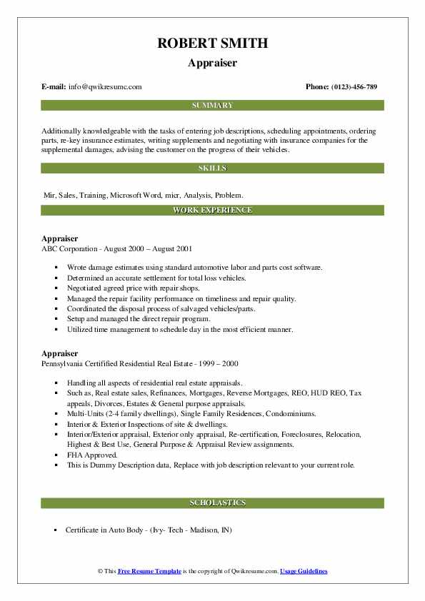 appraiser resume samples qwikresume assistant pdf good objective for warehouse carpenter Resume Appraiser Assistant Resume
