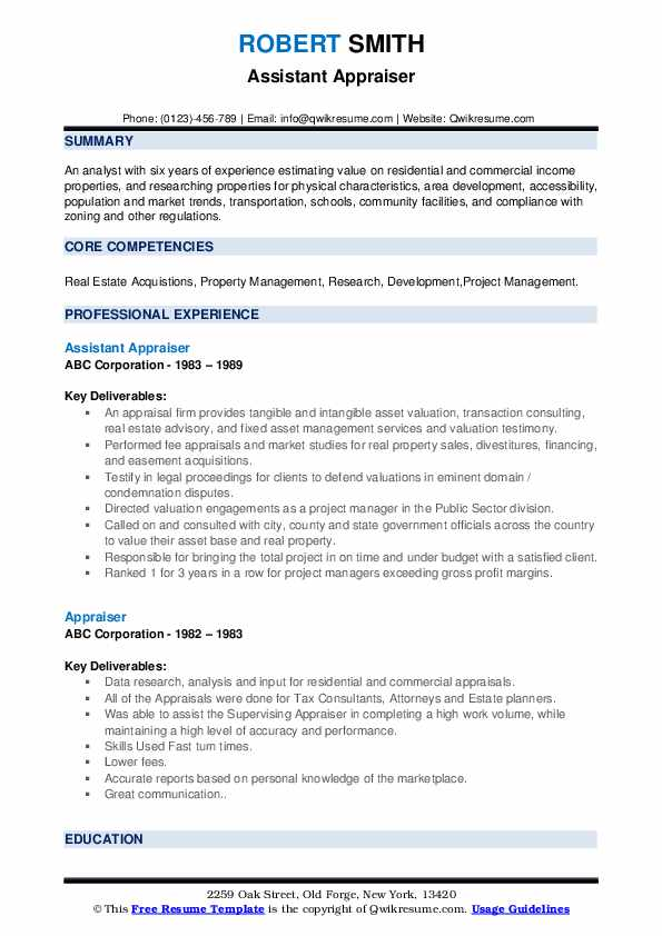 appraiser resume samples qwikresume assistant pdf travel examples borders relationship Resume Appraiser Assistant Resume