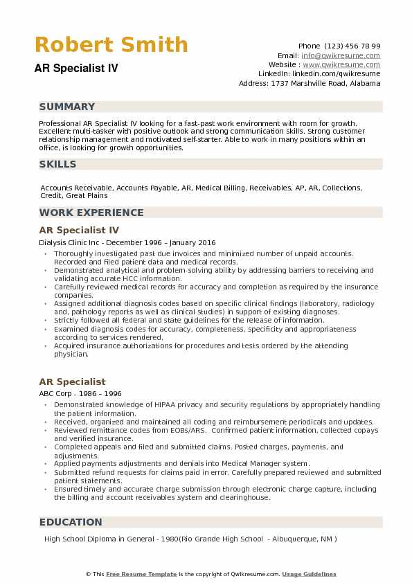 ar specialist resume samples qwikresume accounts receivable pdf hair stylist example six Resume Accounts Receivable Specialist Resume
