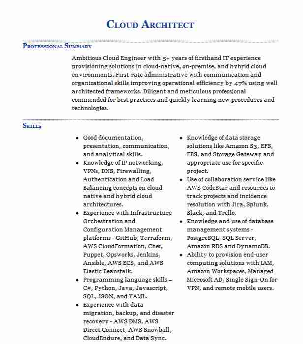 architect resume example ancestry springs openstack experience paralegal examples Resume Openstack Experience Resume