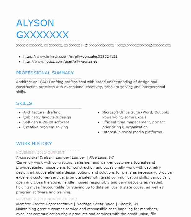 architectural drafter resume example resumes livecareer technologist sample macbook Resume Architectural Technologist Resume Sample