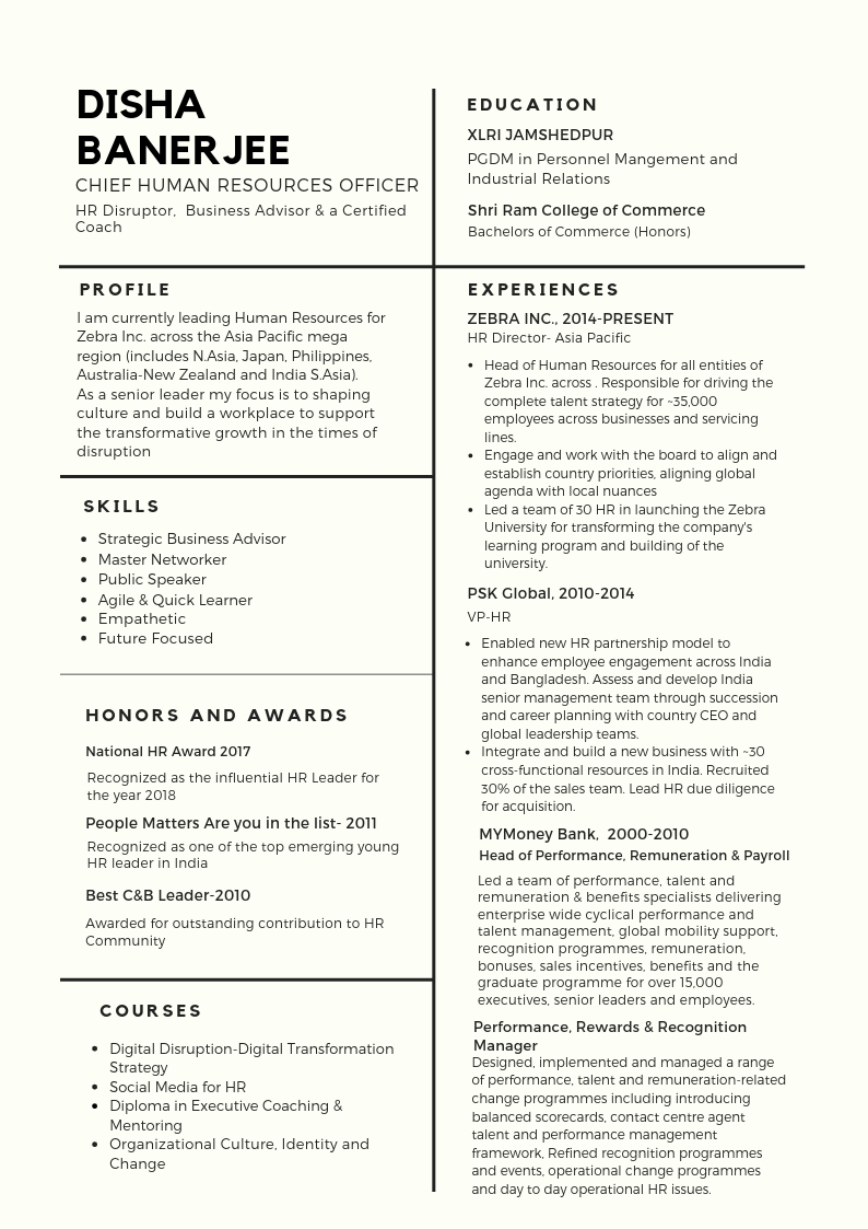 article the perfect chro resume people matters business transformation sample henrietta Resume Business Transformation Resume Sample
