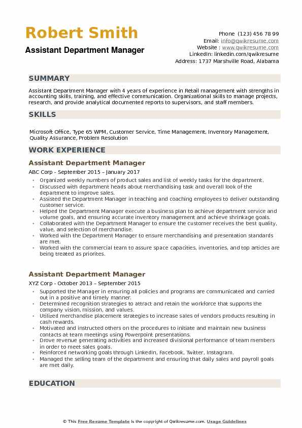 assistant department manager resume samples qwikresume retail training pdf restaurant Resume Retail Training Manager Resume