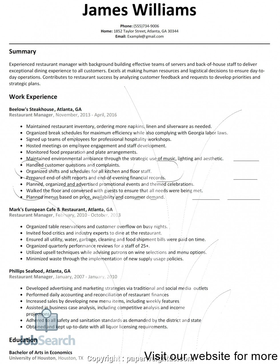 assistant manager restaurant duties resume for sample objective tourism students Resume Cafe Manager Duties For Resume