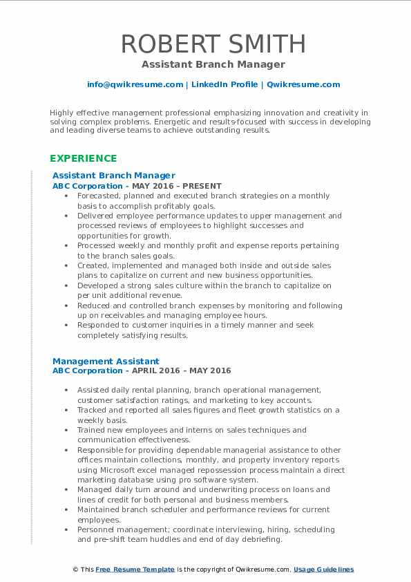 assistant manager resume samples qwikresume credit pdf elon musk template correctional Resume Credit Union Branch Manager Resume