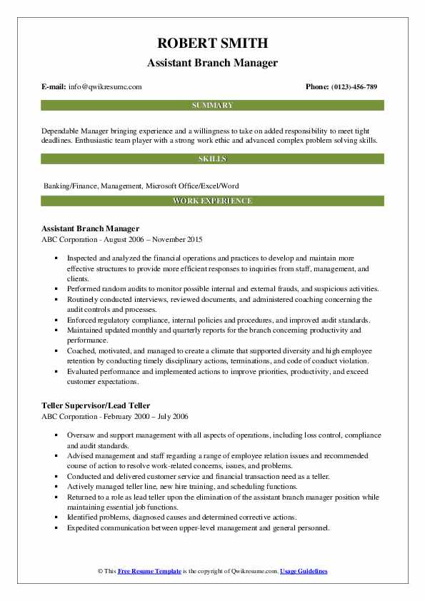 assistant manager resume samples qwikresume credit pdf strong cover letter for computer Resume Credit Union Branch Manager Resume