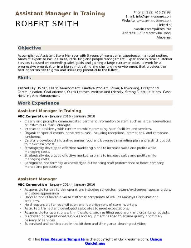 assistant manager resume samples qwikresume retail training pdf psychology format for men Resume Retail Training Manager Resume
