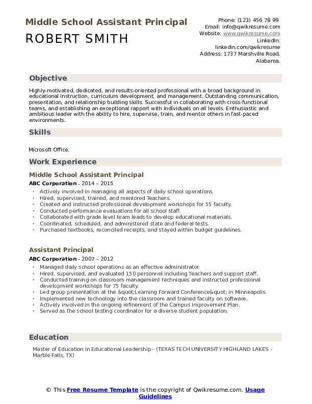 assistant principal resume samples qwikresume objective for pdf dietary aide position Resume Objective For Assistant Principal Resume