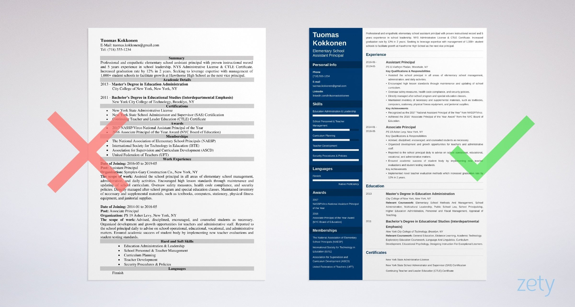 assistant principal resume template guide examples sample for school position example Resume Sample Resume For School Principal Position