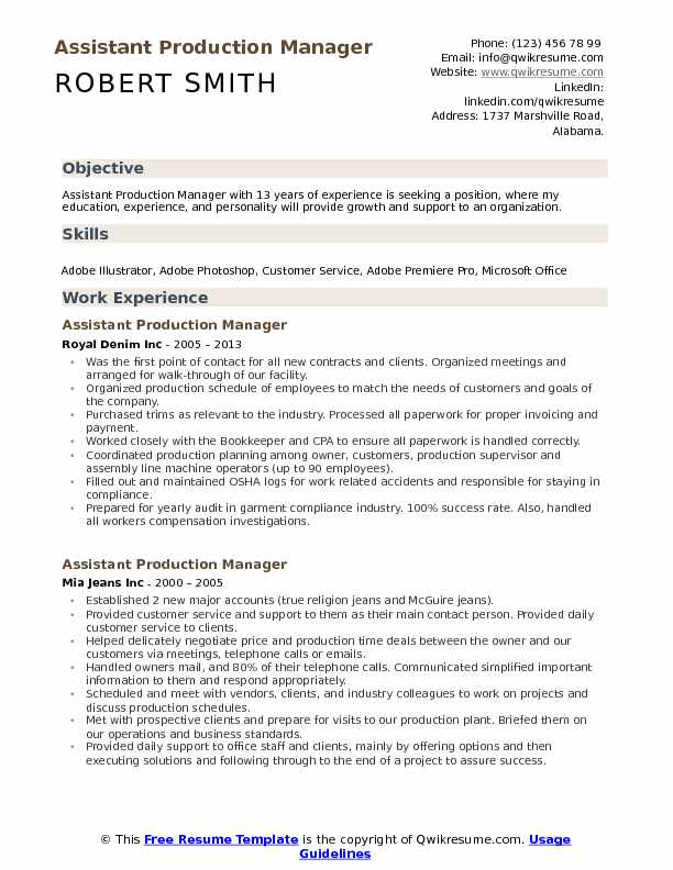 assistant production manager resume samples qwikresume apparel pdf general administration Resume Apparel Production Assistant Resume