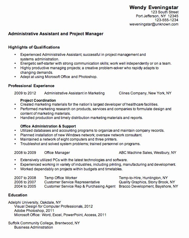 assistant project manager resume lovely bination sample for an administrative jobs Resume Assistant Project Manager Resume Sample
