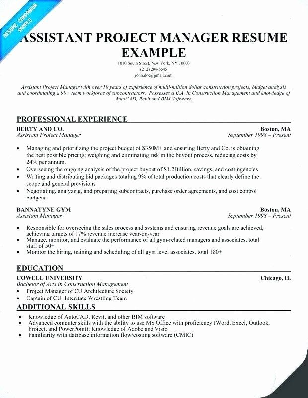 assistant project manager resume lovely construction guatemalago job samples chro Resume Assistant Project Manager Construction Resume