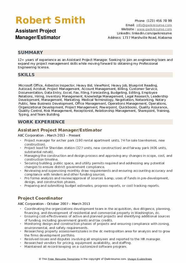 assistant project manager resume samples qwikresume construction pdf property Resume Assistant Project Manager Construction Resume