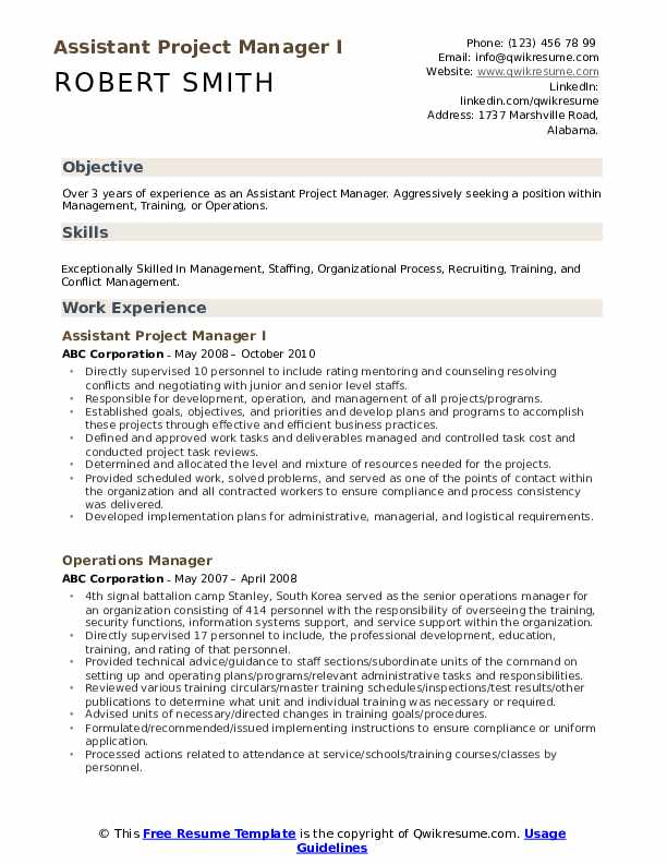 assistant project manager resume samples qwikresume sample pdf packaging operator ats Resume Assistant Project Manager Resume Sample