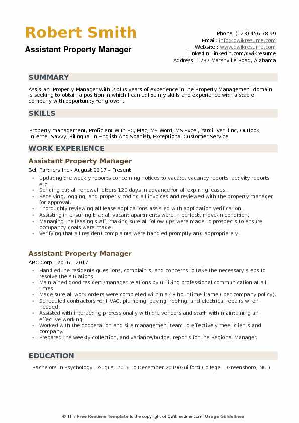 assistant property manager resume samples qwikresume pdf sample objectives for computer Resume Property Manager Resume