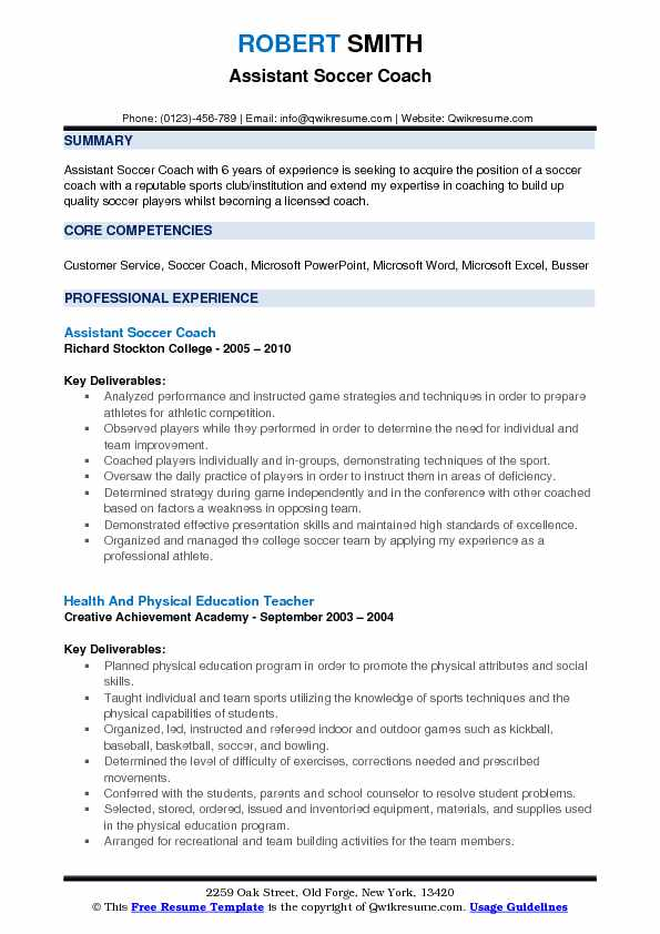 assistant soccer coach resume samples qwikresume pdf entry level driver contoh offshore Resume Assistant Soccer Coach Resume