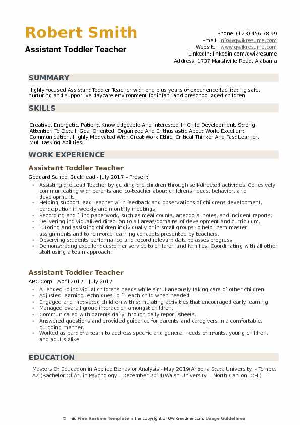 assistant toddler teacher resume samples qwikresume daycare pdf entry level job font size Resume Daycare Teacher Assistant Resume