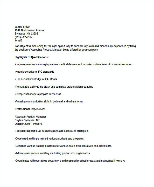 associate product manager resume for position many of us interested in being if you are Resume Associate Product Manager Resume