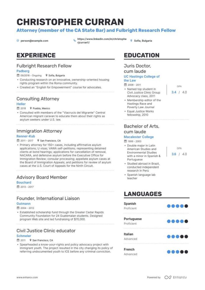 Attorney Resume Examples And Skills You Need To Get Hired Best Sample Stage Crew Best Attorney Resume Sample Resume Manager Job Duties For Resume Good Resume Format For Teachers Insurance Agent Resume