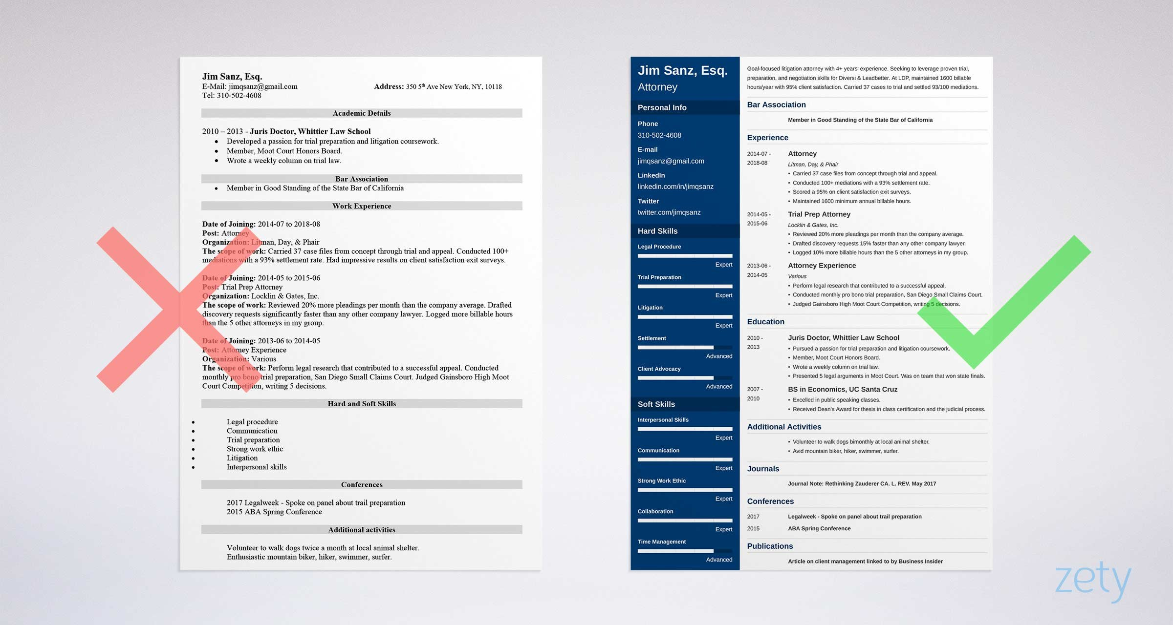attorney resume lawyer samples guide best sample project manager job first simple Resume Best Attorney Resume Sample