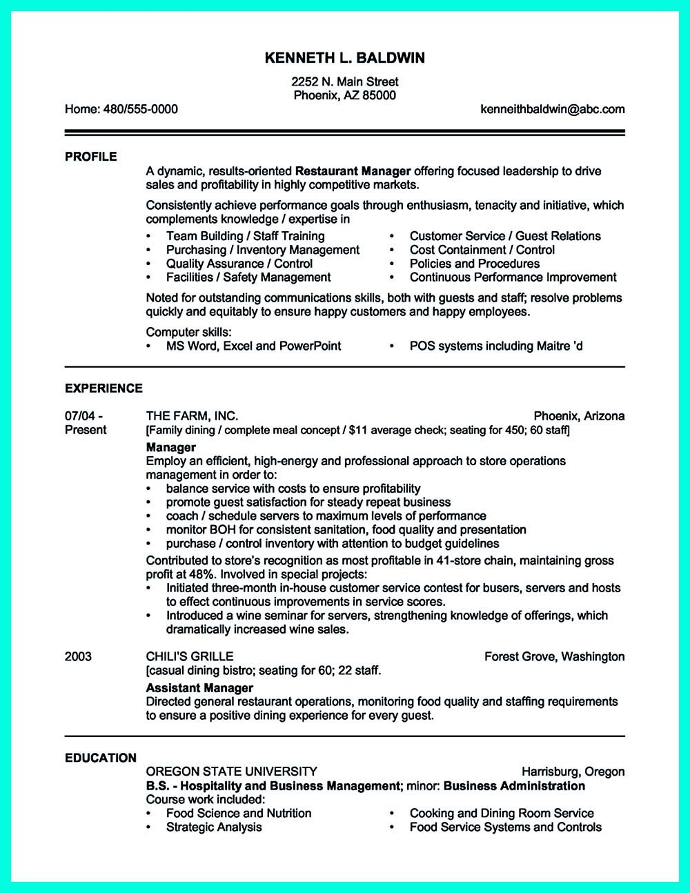 attractive but simple catering manager resume tricks sample templates job samples Resume Restaurant Owner Resume