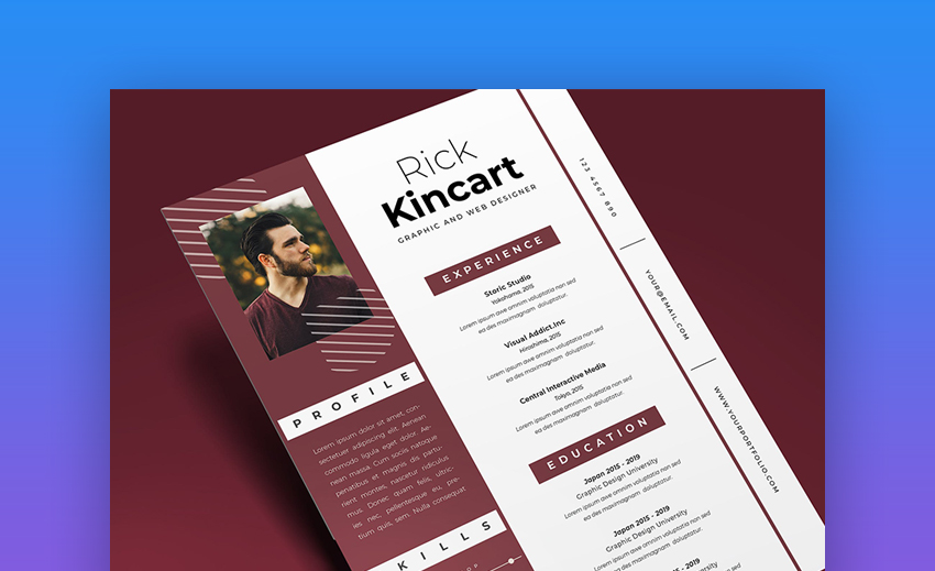 attractive eye catching resume cv templates with stylish aesthetics free vol general Resume Attractive Resume Templates Free Download