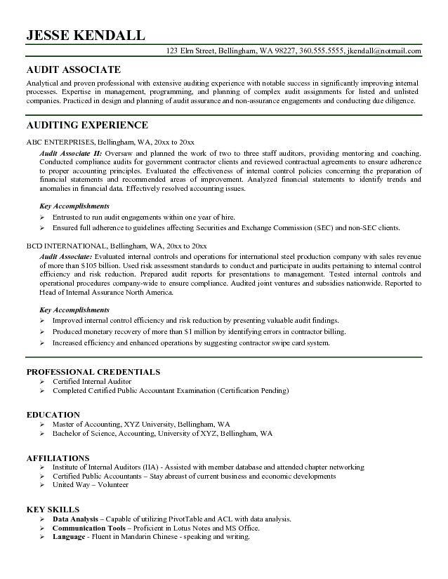 auditor resume director of internal audit icwa with statement purpose federal job example Resume Director Of Internal Audit Resume