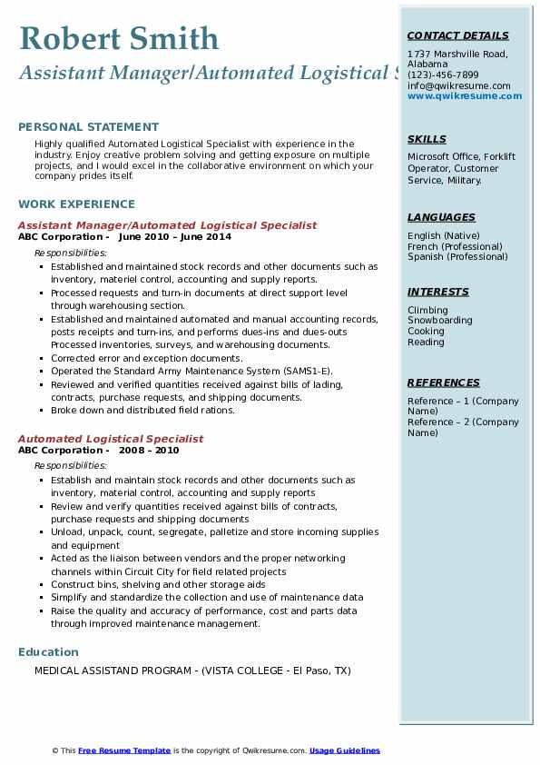 automated logistical specialist resume samples qwikresume pdf introduction examples free Resume Automated Logistical Specialist Resume