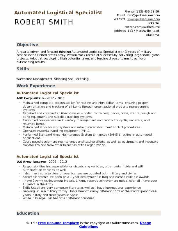 automated logistical specialist resume samples qwikresume pdf political format tour guide Resume Automated Logistical Specialist Resume