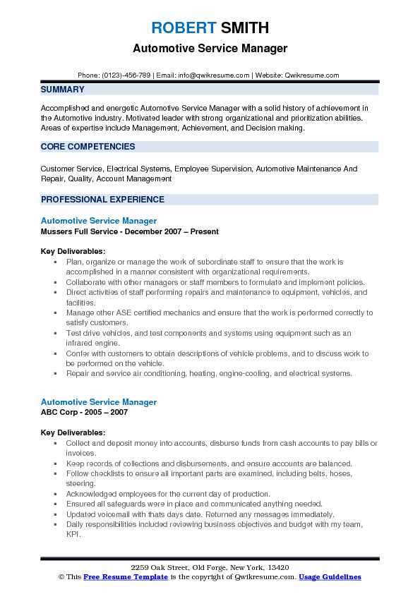 automotive service manager resume samples qwikresume example pdf federal win from Resume Automotive Manager Resume Example