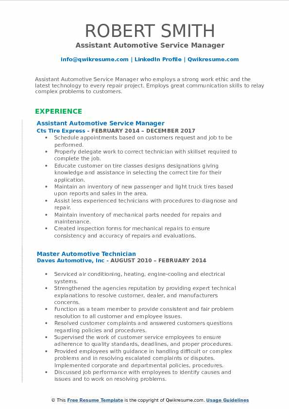 automotive service manager resume samples qwikresume example pdf ladders free review Resume Automotive Manager Resume Example