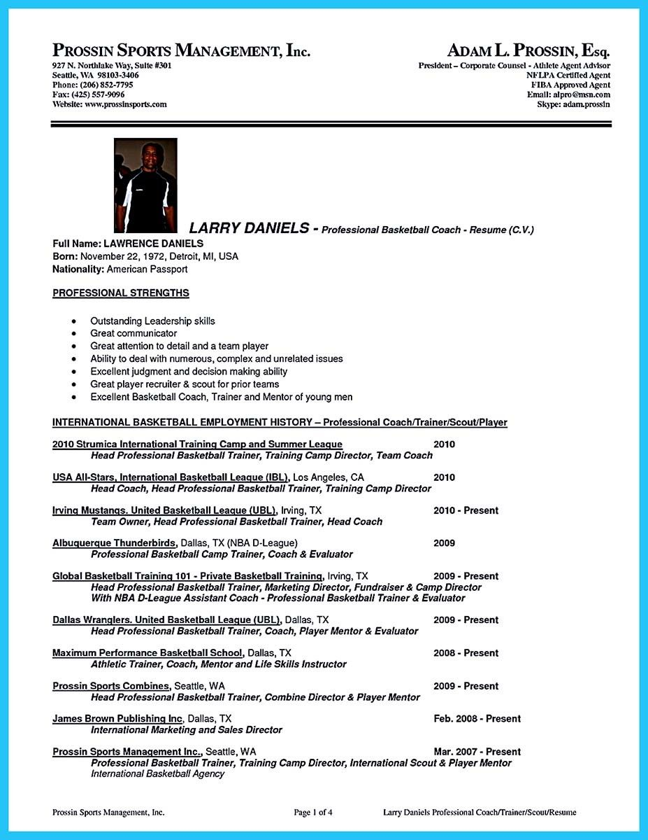 awesome captivating thing for perfect and acceptable basketball coach resume check more Resume Head Basketball Coach Resume