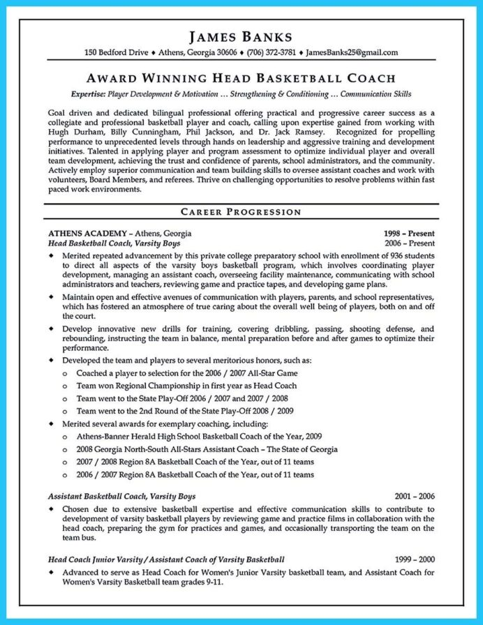 awesome captivating thing for perfect and acceptable basketball coach resume writing tips Resume Head Basketball Coach Resume