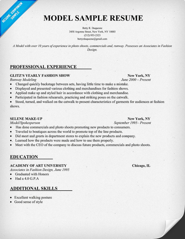 awesome good resume models best examples modeling example names formal template word Resume Modeling Resume Example