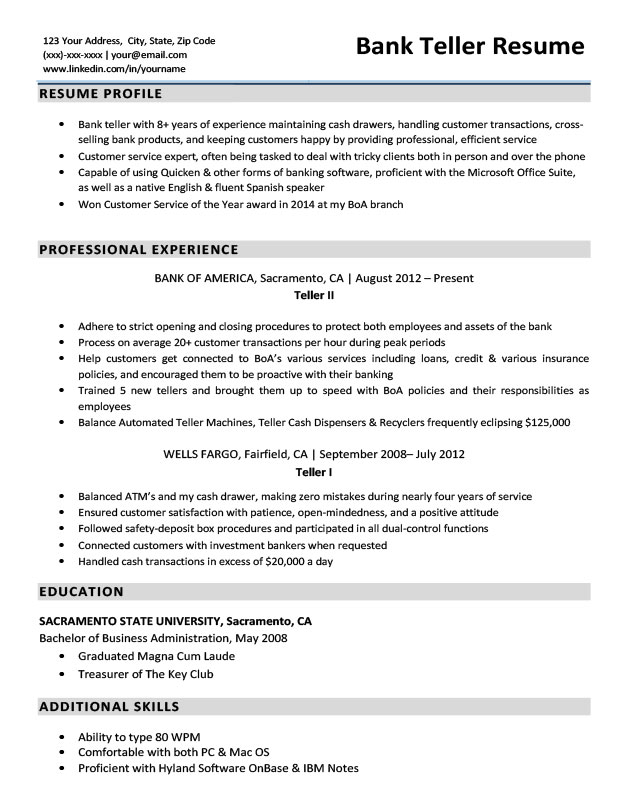 bank resume ipasphoto objective sample redux fedex package handler duties great and cover Resume Teller Resume Objective