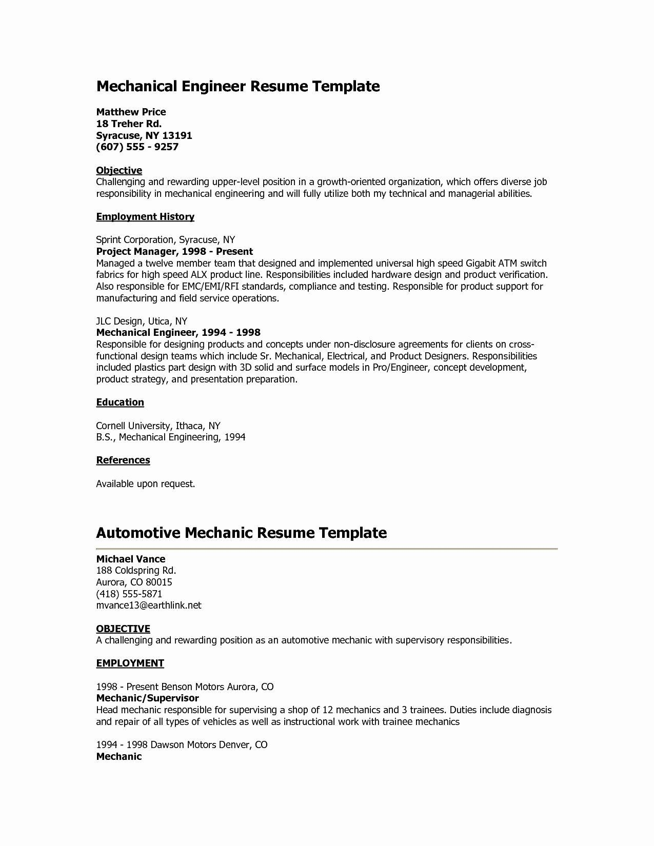 bank resume no experience printable template mechanical engineer engineering objective Resume Teller Resume Objective
