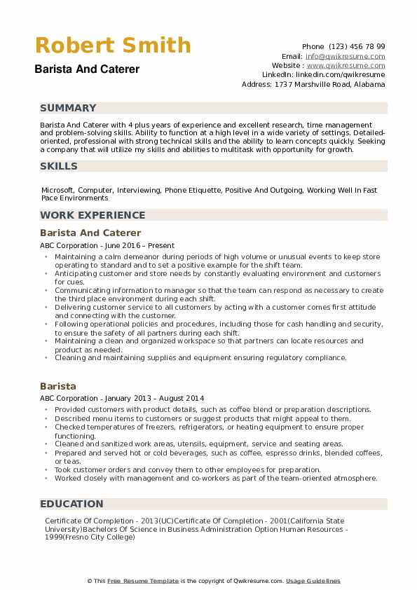 barista resume samples qwikresume objective examples pdf fake awards for welding student Resume Barista Objective Resume Examples