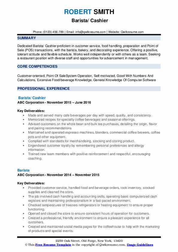 barista resume samples qwikresume objective examples pdf manager roles and Resume Barista Objective Resume Examples