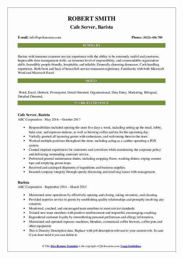 barista resume samples qwikresume objective examples pdf welding student fake awards for Resume Barista Objective Resume Examples