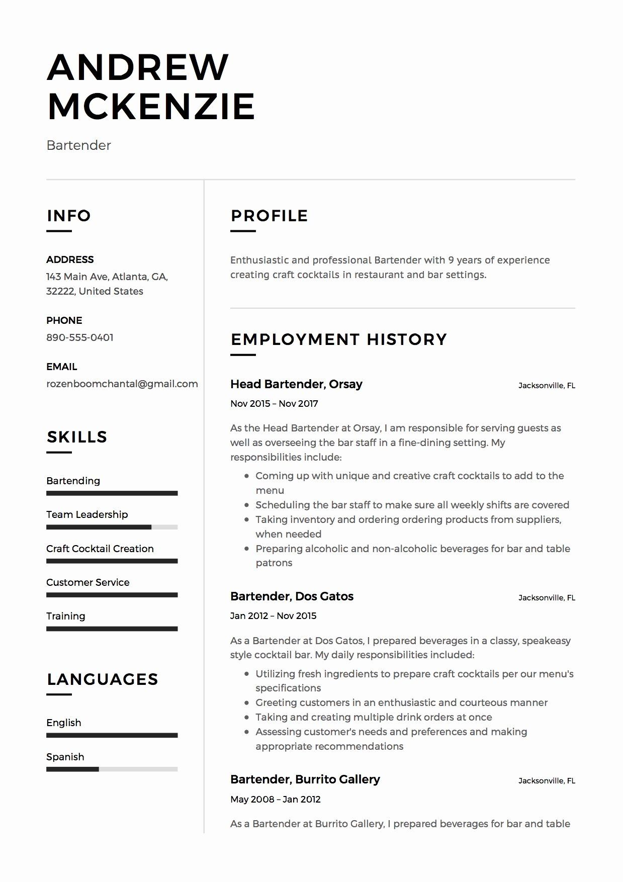 bartender job description resume luxury samples guide examples responsibilities mortgage Resume Bartender Job Responsibilities Resume