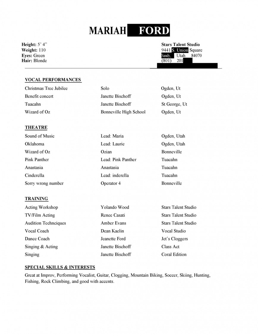 beginner actor resume template addictionary theatre imposing example lawn service Resume Theatre Resume Template