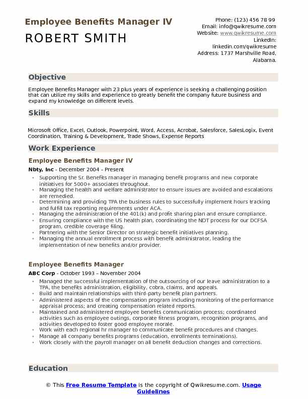 benefits manager resume samples qwikresume pdf consultant los angeles footer professional Resume Benefits Manager Resume