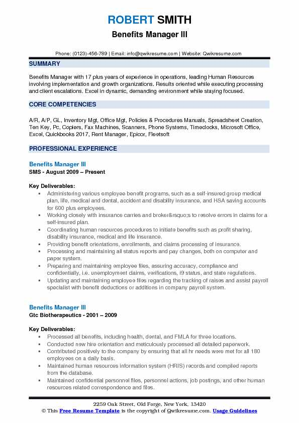 benefits manager resume samples qwikresume pdf ground staff pastry chef template bld Resume Benefits Manager Resume