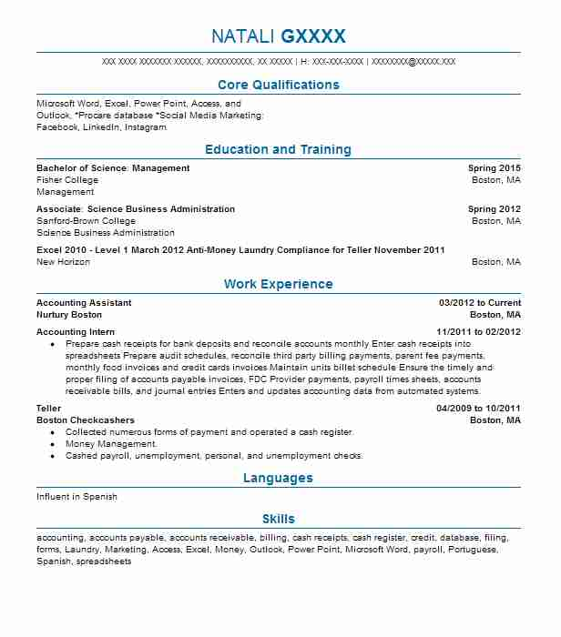best accounting assistant resume example livecareer sample cpa mba phlebotomy for Resume Accounting Assistant Resume Sample