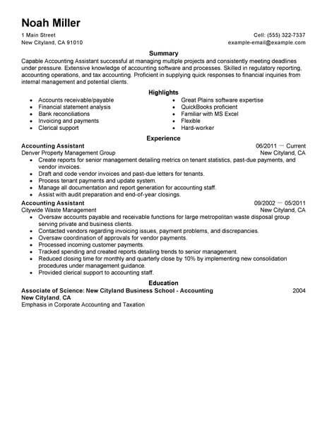 best accounting assistant resume example livecareer sample finance space saver 463x600 Resume Accounting Assistant Resume Sample