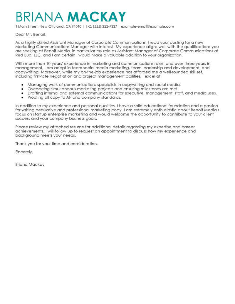 best assistant manager cover letter examples livecareer project resume management Resume Assistant Project Manager Resume Cover Letter