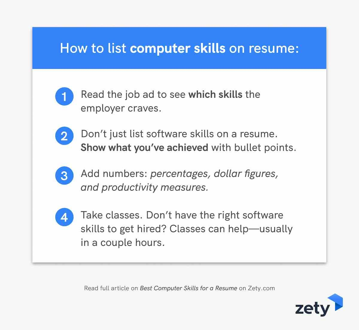 best computer skills for resume software employers proficient with computers to on Resume Proficient With Computers Resume