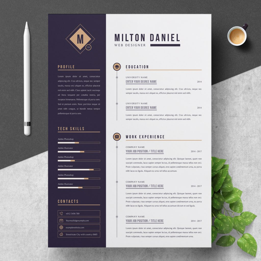 best contemporary new styles resume cv for modern template clean professional creative Resume Modern Resume Template 2020